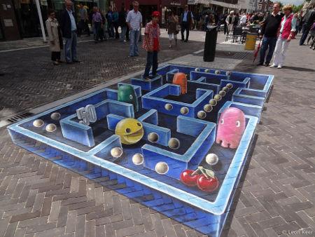 street art: pac-man 3D