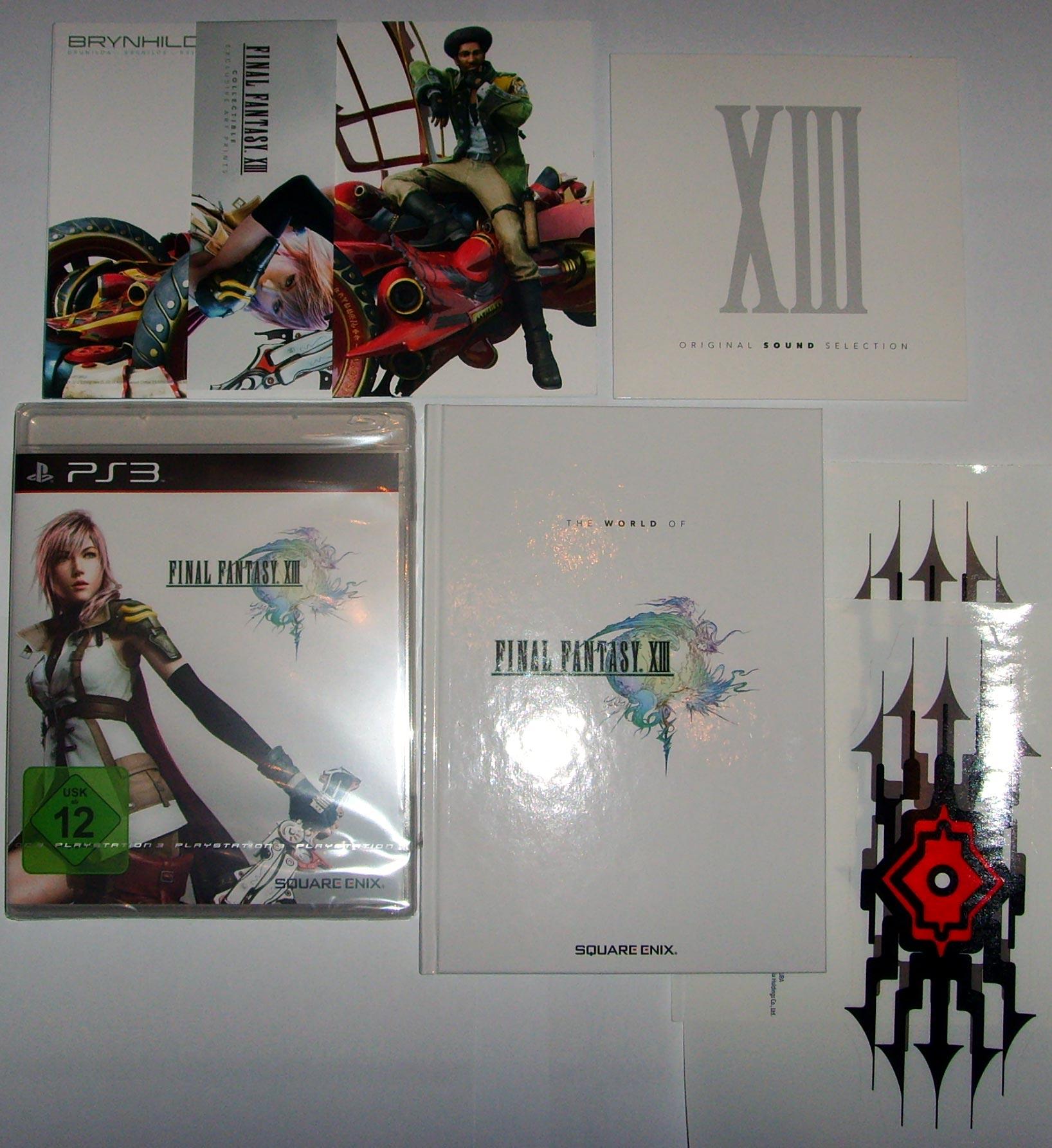 final fantasy XIII limited edition inhalt