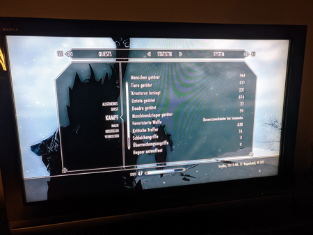 Skyrim PS3 - Kampf Tab1