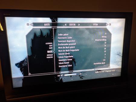 Skyrim PS3 - Magie Tab