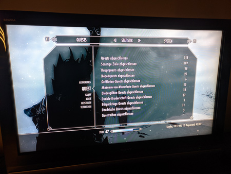 Skyrim PS3 - Quest Tab