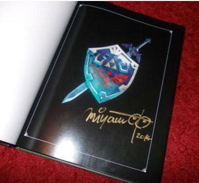 artbook: Hyrule Historia mit Miyamotos Signatur