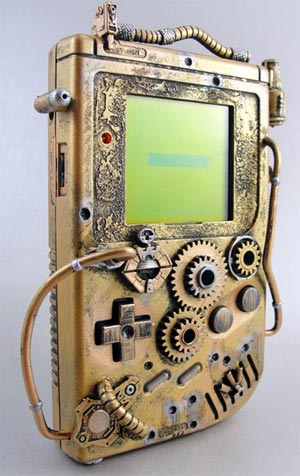 auktion: steampunk-gameboy