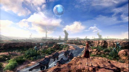 final fantasy XIII grand pulse und cocoon als mond