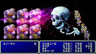 screenshots: final fantasy II anniversary