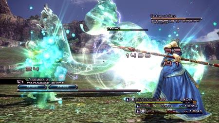 final fantasy XIII battle screen