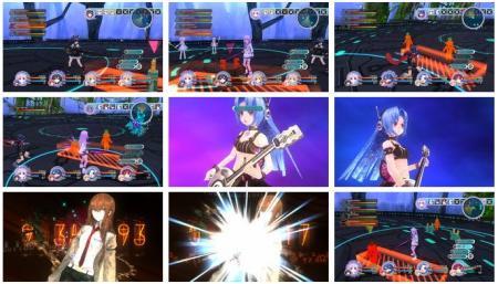 screenshots: hyperdimension neptunia mk2