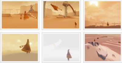 screenshots: journey
