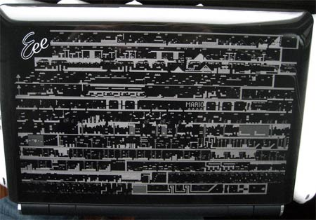 modding: laser-mario-netbook