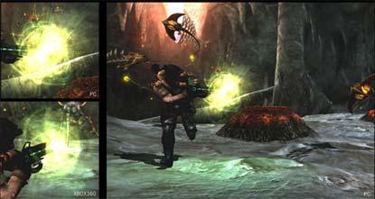screenshots: lost planet, pc version