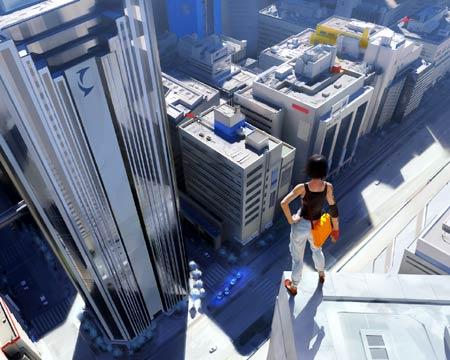 mirrors edge: faith auf dem dach