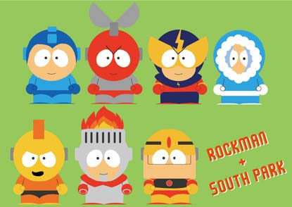 mega man vs. south park