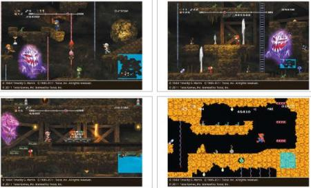 screens: minna de spelunker