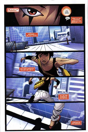 mirrors edge minicomic