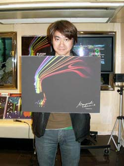 mizuguchi verschenkt kunstwerk