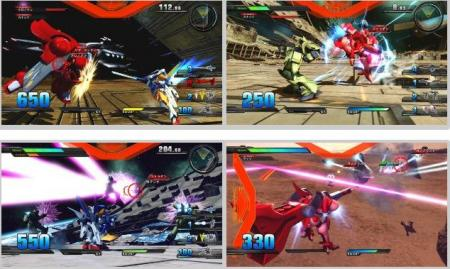 screenshots: mobile suit gundam extreme vs.