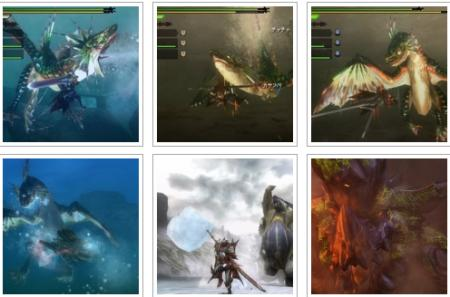 screenshots: monster hunter tri g