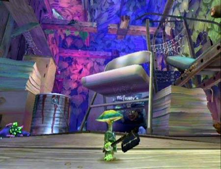 screenshots: mushroom men