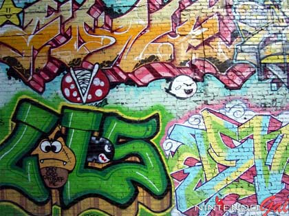 nintendo: graffiti-wand
