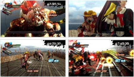 screens: onee chanbara z kagura