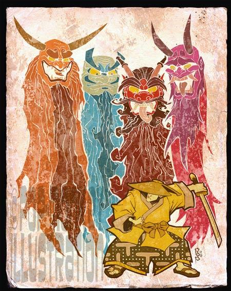 artwork: pacman-samurai