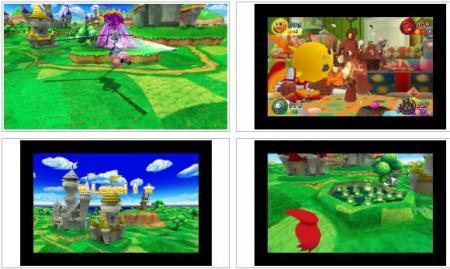 screenshots: pacman party 3D