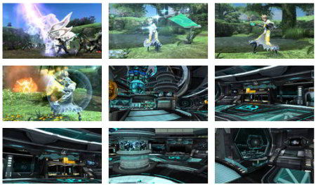 screenshots: phantasy star online 2
