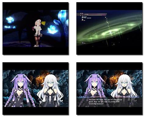 screenshots: hyperdimension neptunia re;birth 1