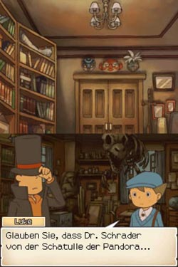 screens: professor layton 2 screenshots