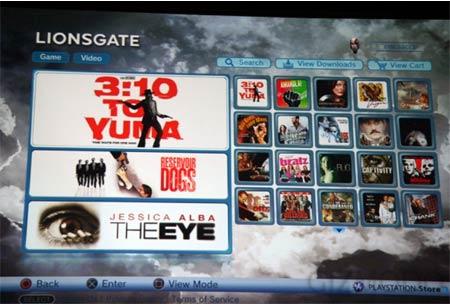 ps3: online-videothek