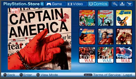 psp: digitale comics