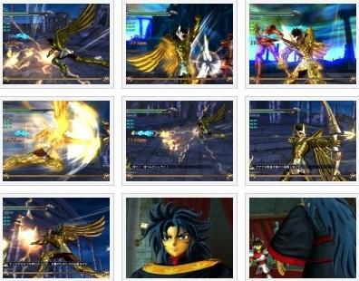 screenshots: saint seiya: sanctury battle