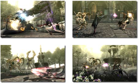 screenshots: bayonetta