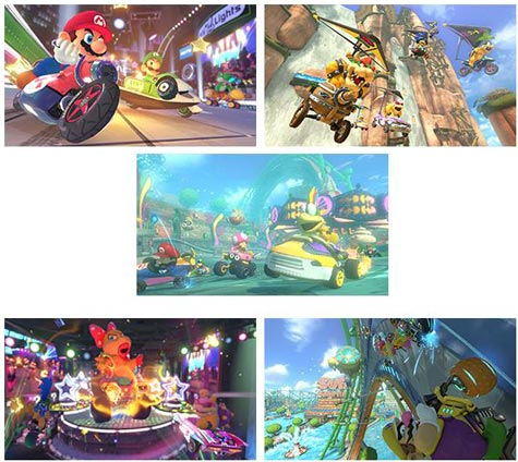 screenshots (II): mario kart 8