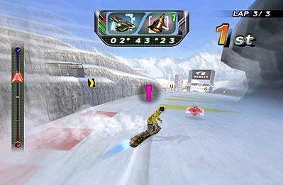 screenshots: snowboard riot