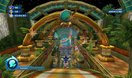 screenshots: sonic colors