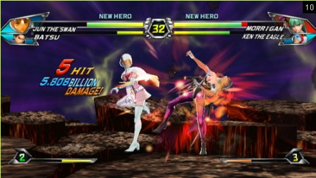 screenshots (III): tatsunoko vs. capcom