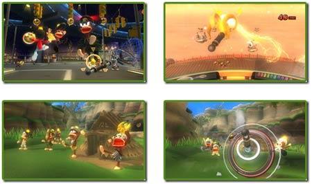screenshots: furi! furi! ape escape