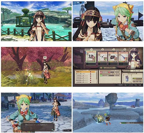 screenshots: atelier shallie: alchemists of the dusk sea