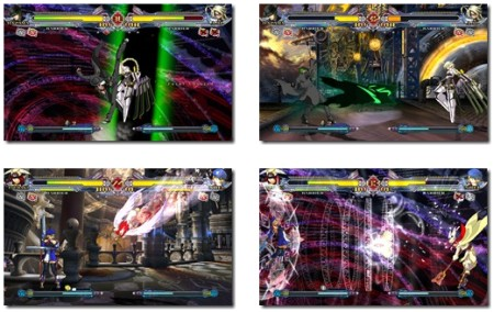 screenshots: blazblue continuum shift