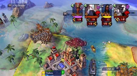 screenshots: civilization revolution