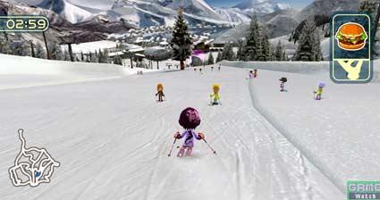 screenshots: family ski