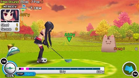 screenshots: fantasy golf