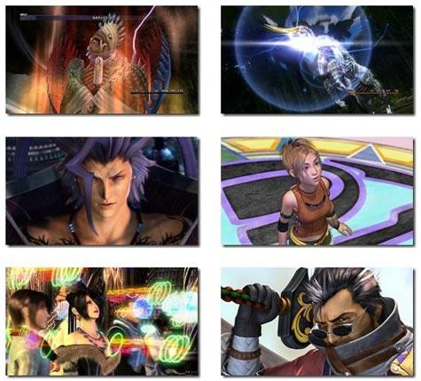 screenshots: final fantasy x/x2 hd