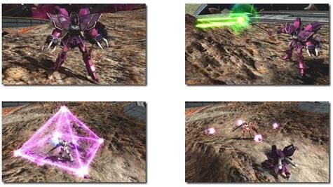 screenshots: gundam: extreme vs. full boost