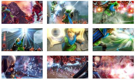 screenshots: hyrule warriors