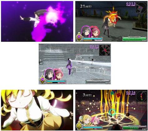 screenshots: madoka magica: the battle pentagram