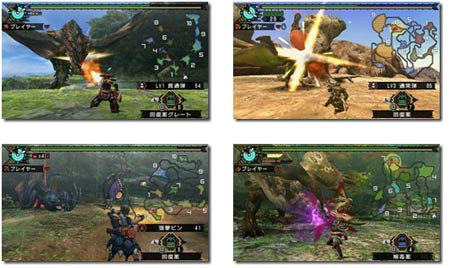 screenshots: monster hunter portable 3