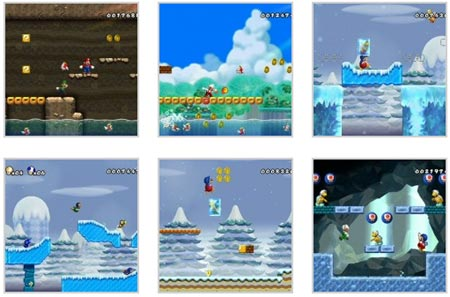 screenshots (II): new super mario bros. wii