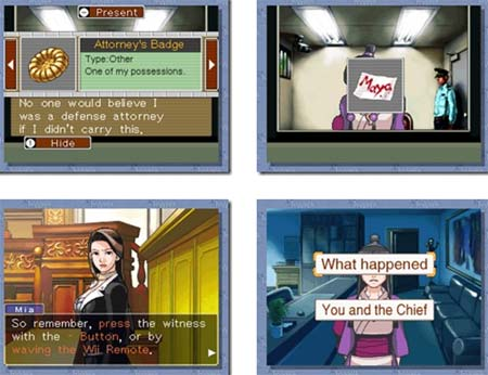 screens: phoenix wright wii